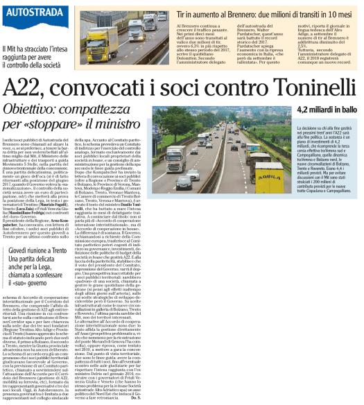 20181106_Adige_A22 Soci contro Toninelli
