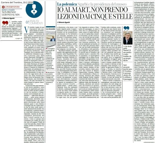 2019022019_Corriere_non prendo lezioni da M5S