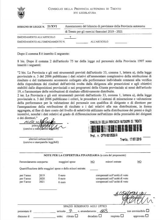 emendamento 469 art 7 ddl 21
