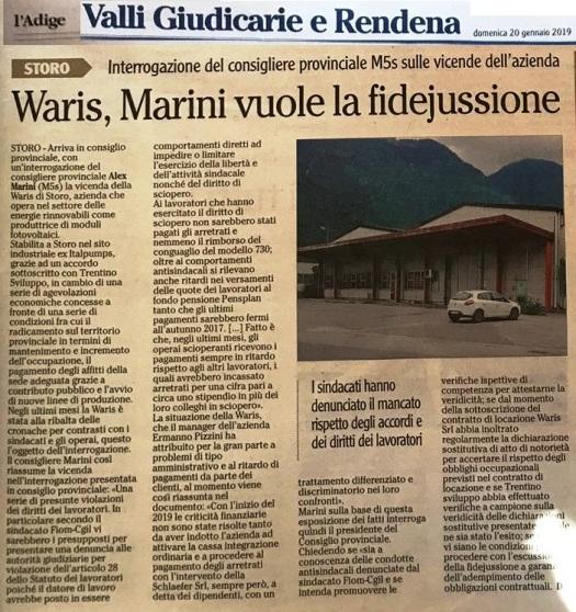 20190120_Marini vuole la fidejussione