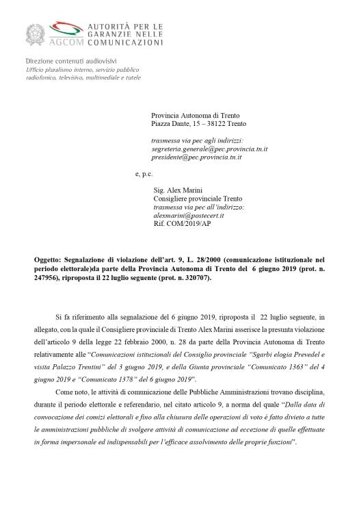 20191218_richiamo di AGCOM a PAT_page-0001