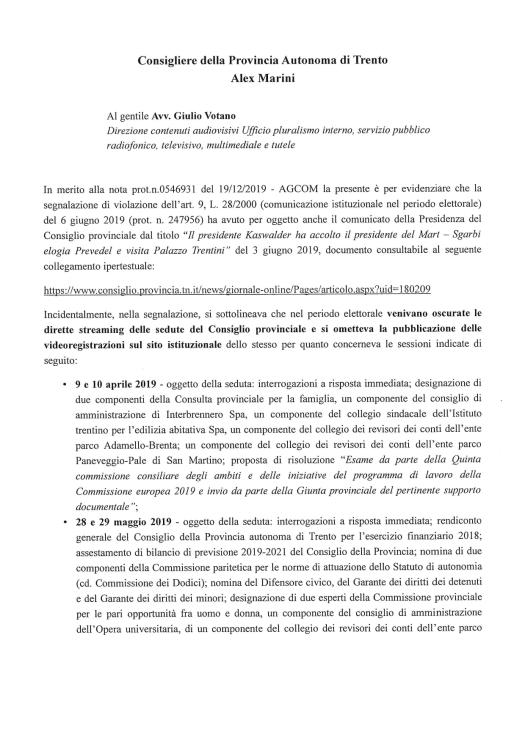 20200108_integrazione Marini ad Agcom (1)