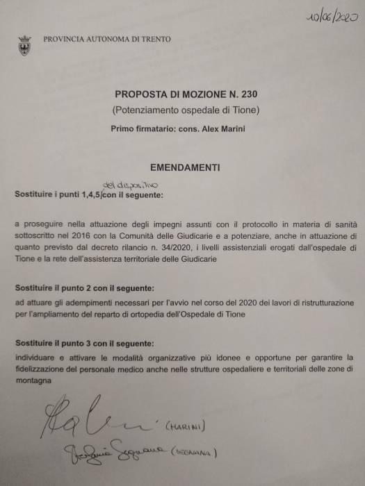 20200610_emendamenti mozione ospedale Tione 239